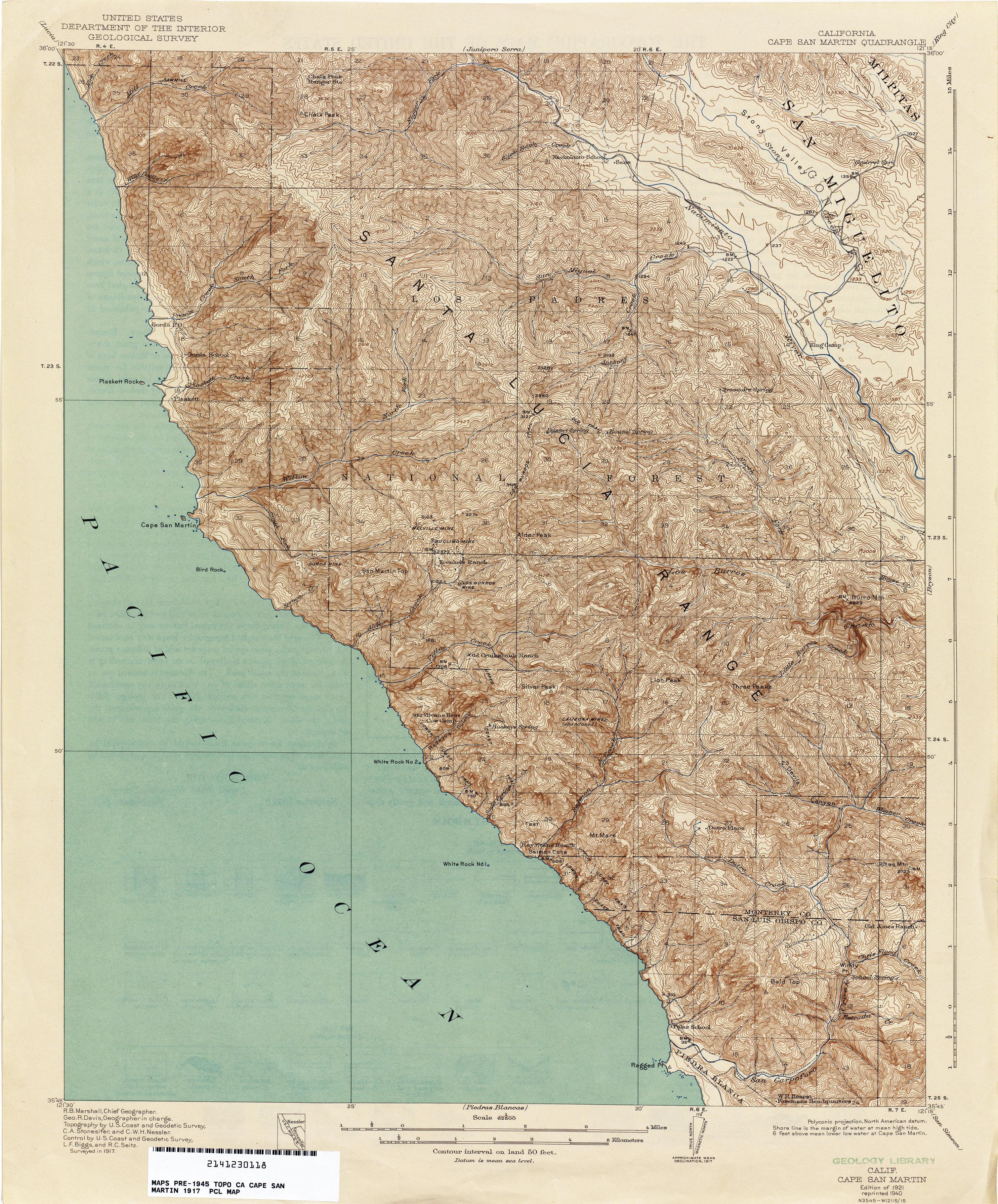 California Topographic Maps - Perry-Castañeda Map Collection - Ut - California Terrain Map