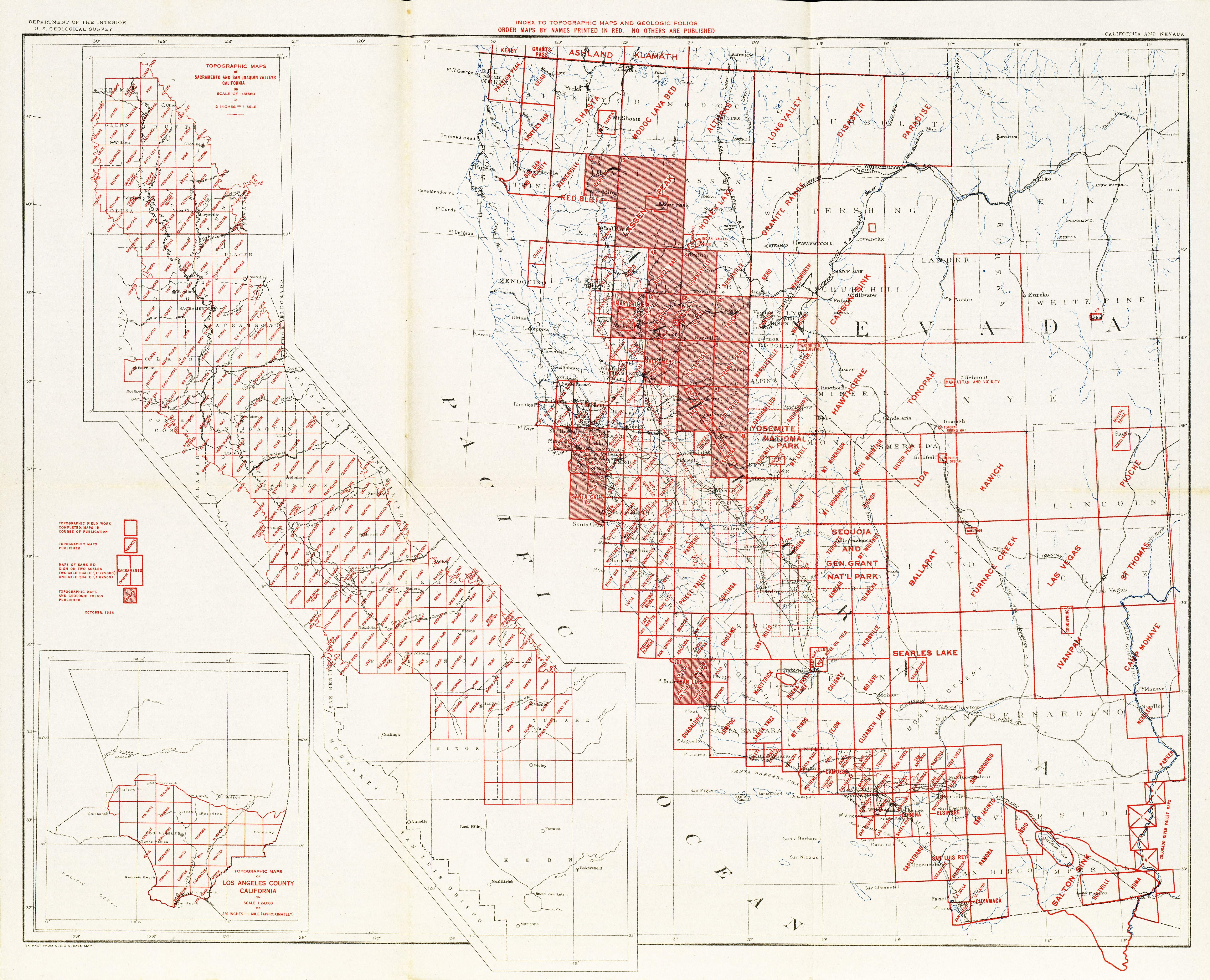 California Topographic Maps - Perry-Castañeda Map Collection - Ut - Online Map Of California