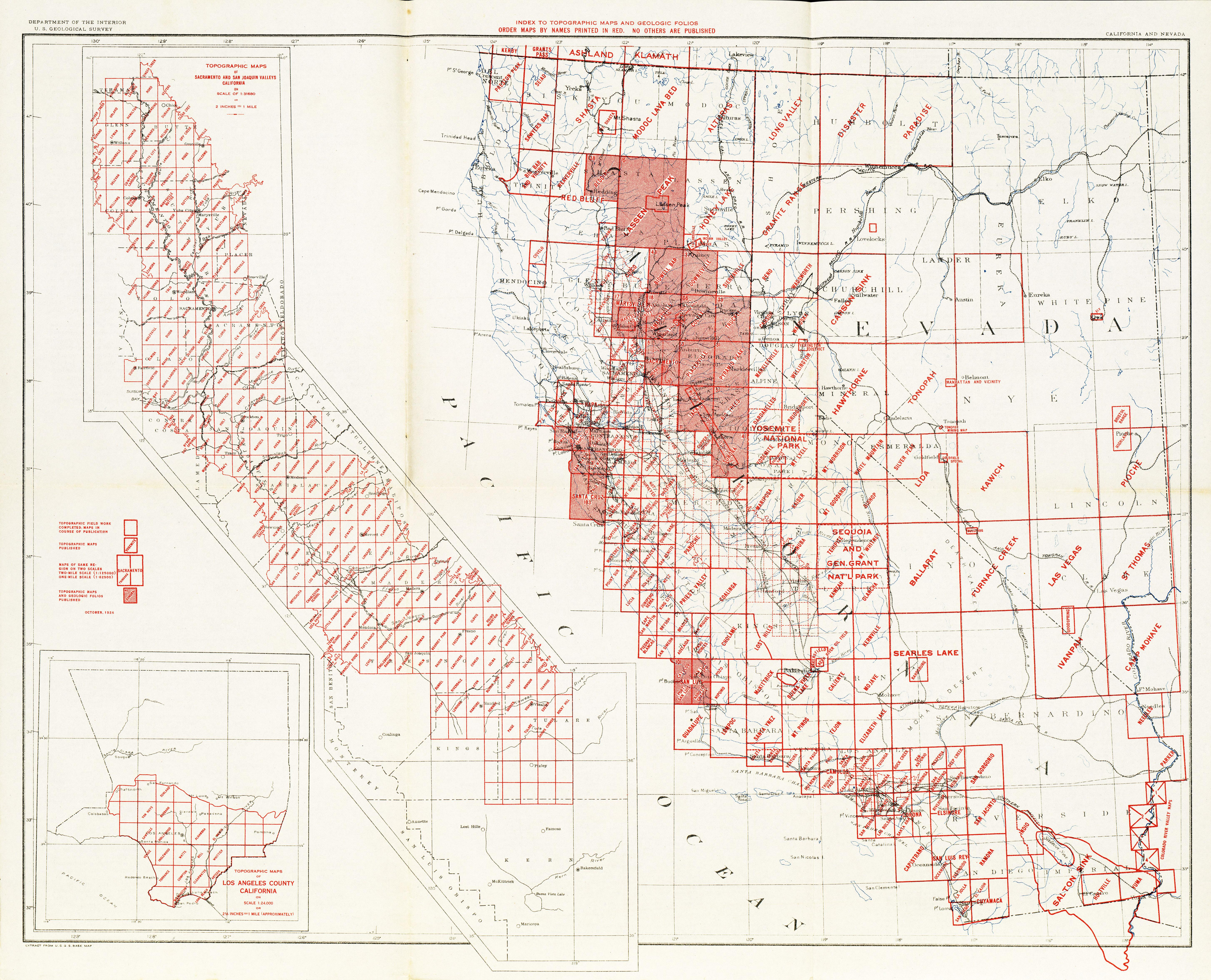 California Topographic Maps - Perry-Castañeda Map Collection - Ut - Topo Map Of California