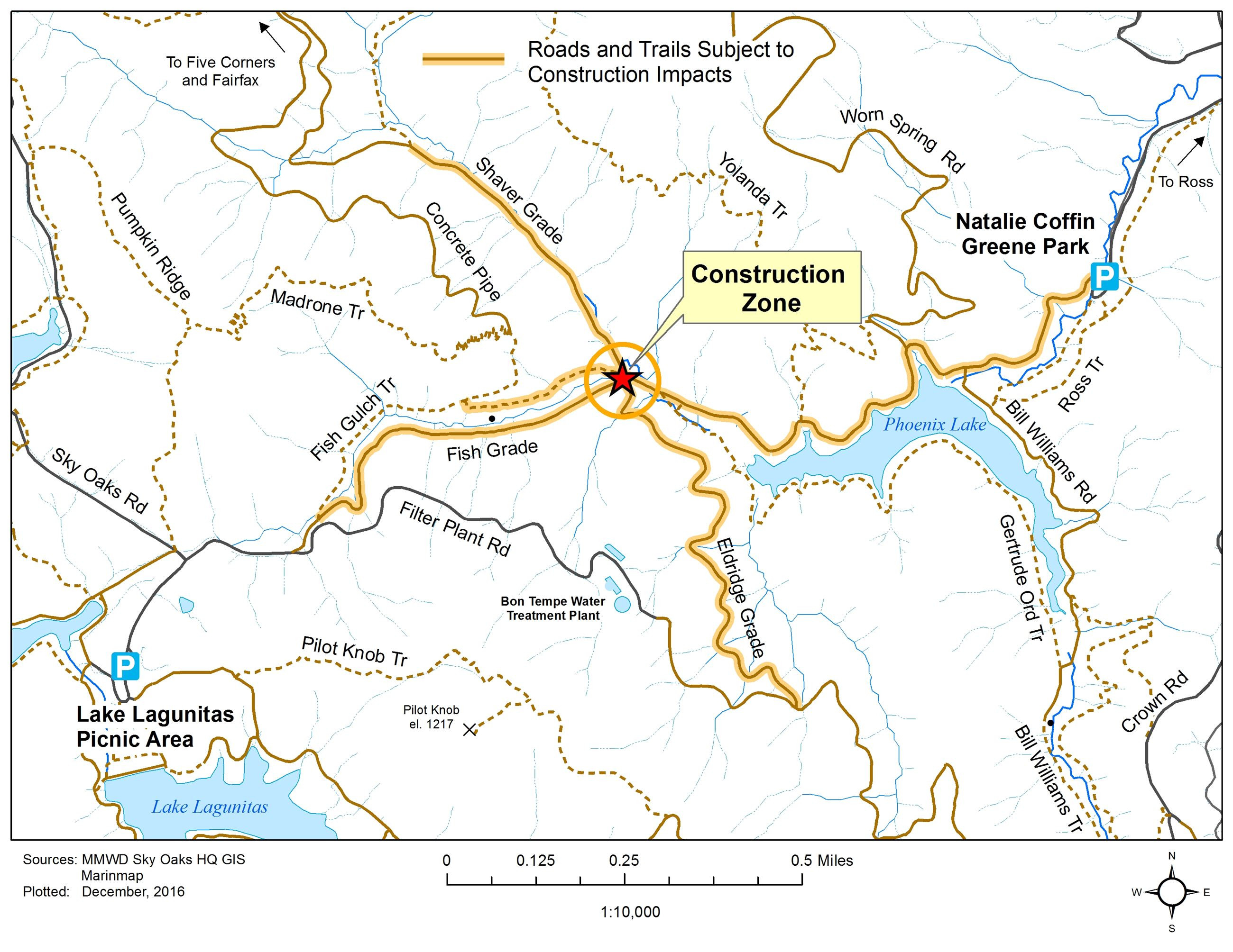 California Traffic Conditions Map Detailed Marin Municipal Water - California Traffic Conditions Map