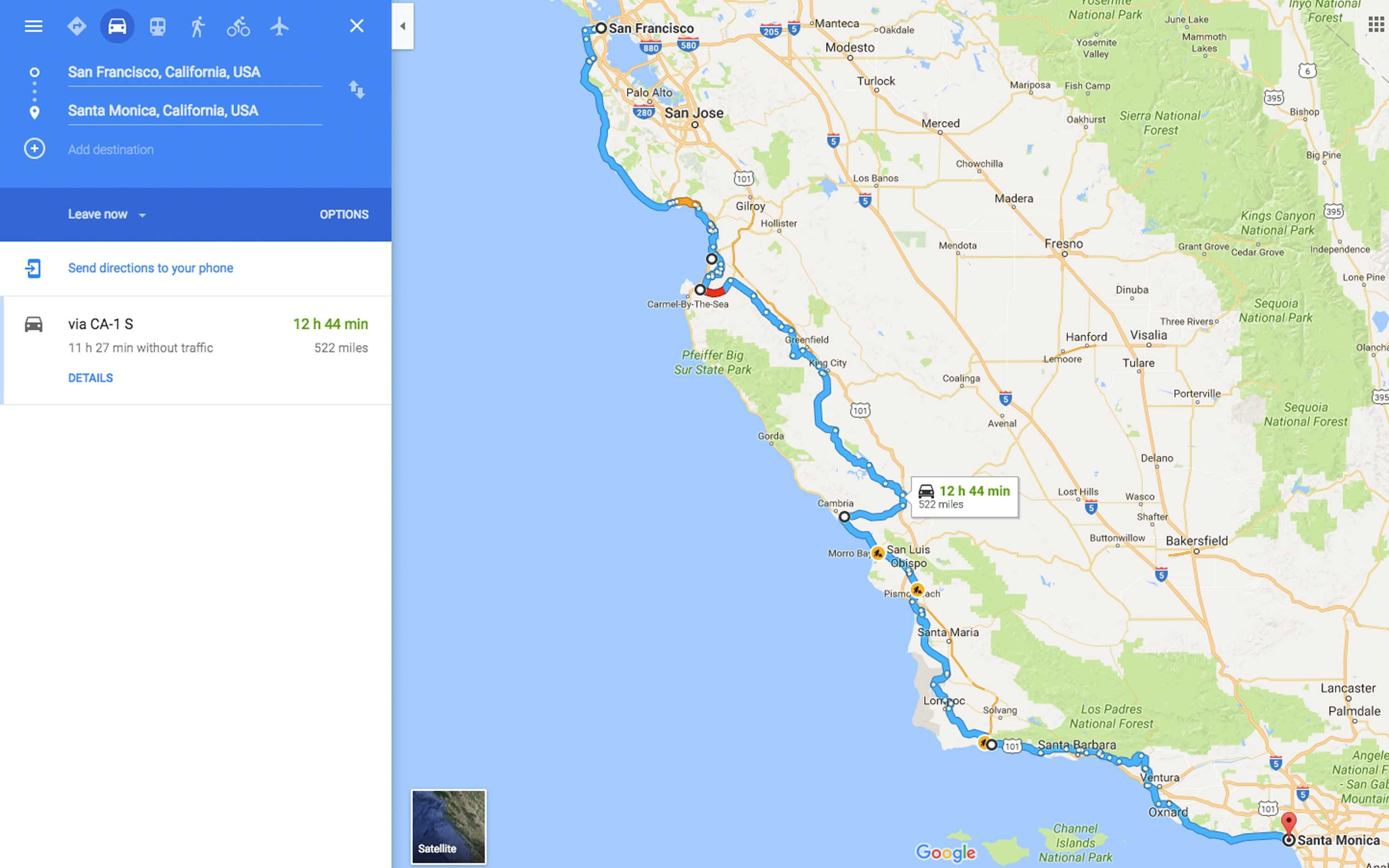 California Traffic Conditions Map Valid Highway 1 Road Trip From San - California Traffic Conditions Map
