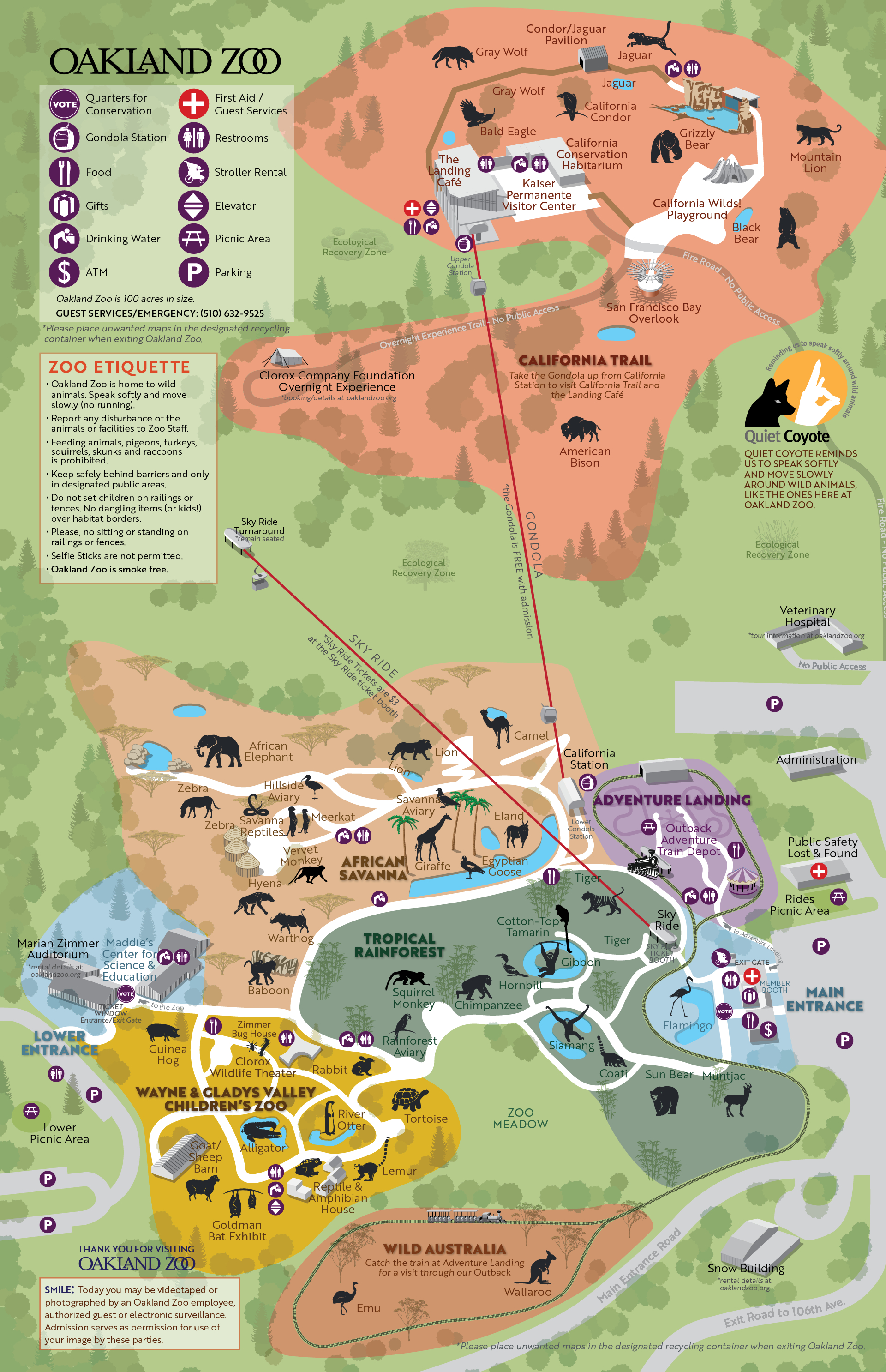 California Trail Oakland Zoo | Places | Oakland Zoo, Comic Books, Map - Oakland Zoo California Trail Map