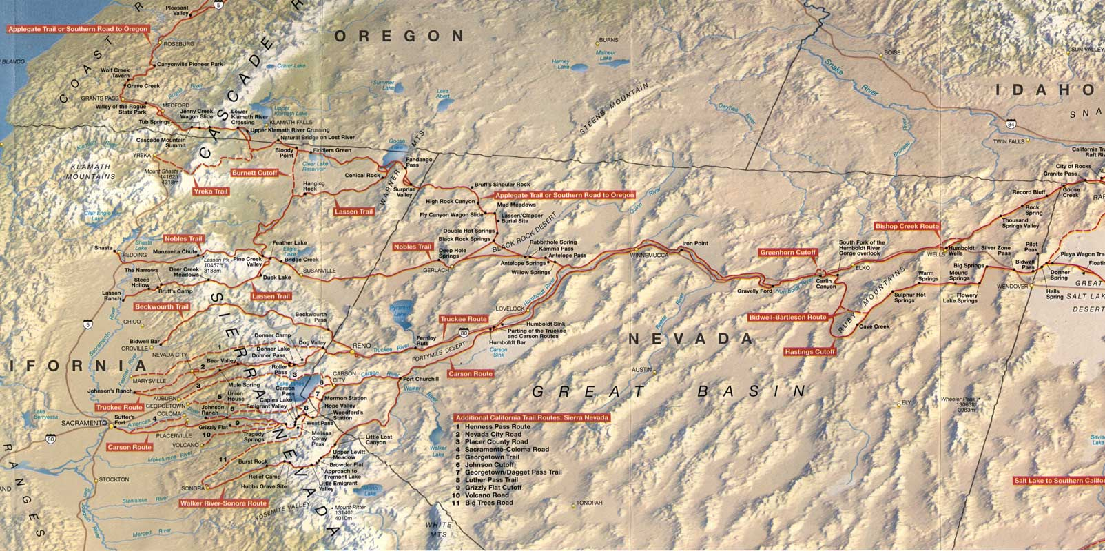 California Trail West Best Of Detail Map Oregon California Trail Map - Southern California Trail Maps