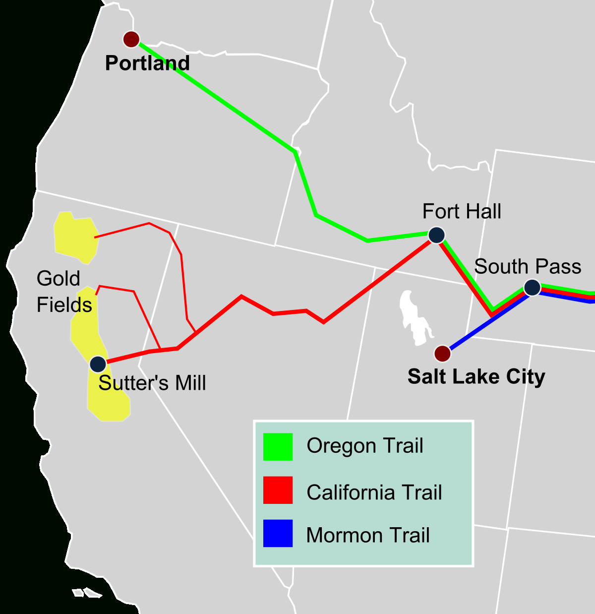 California Trail - Wikipedia - Backpacking Maps California