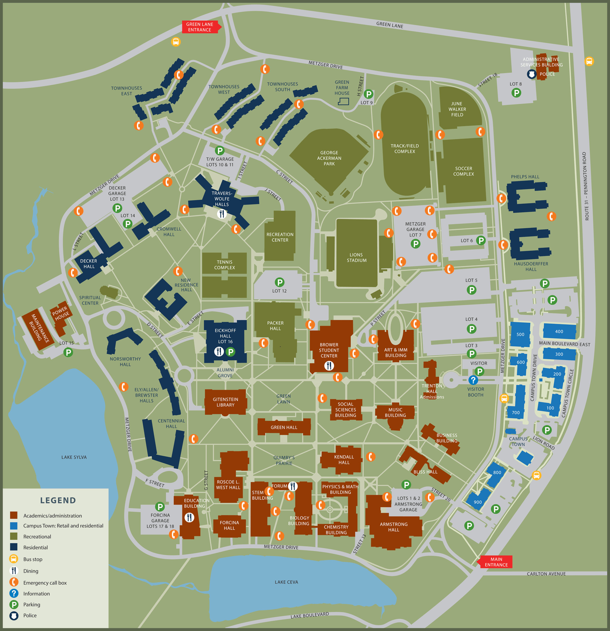 California University Of Pa Campus Map New Map California California - California University Of Pa Campus Map