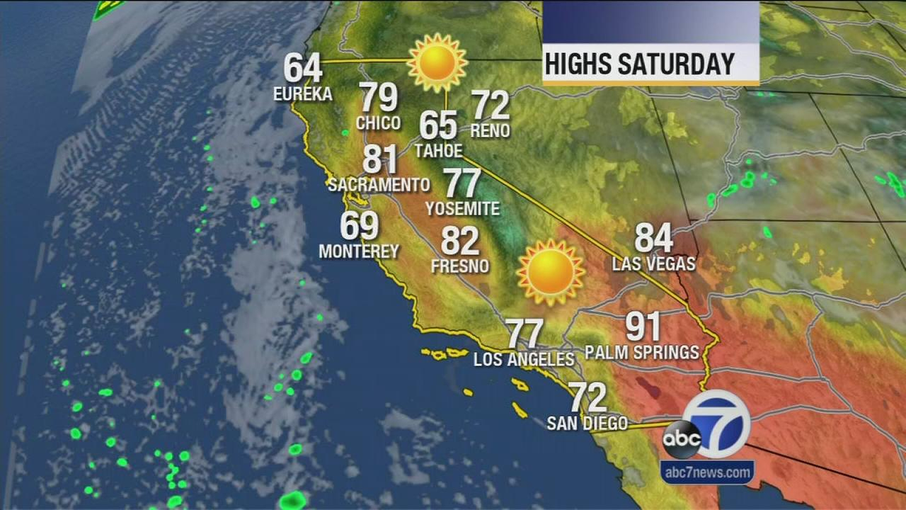 California Weather Map Today - Klipy - California Weather Map For Today