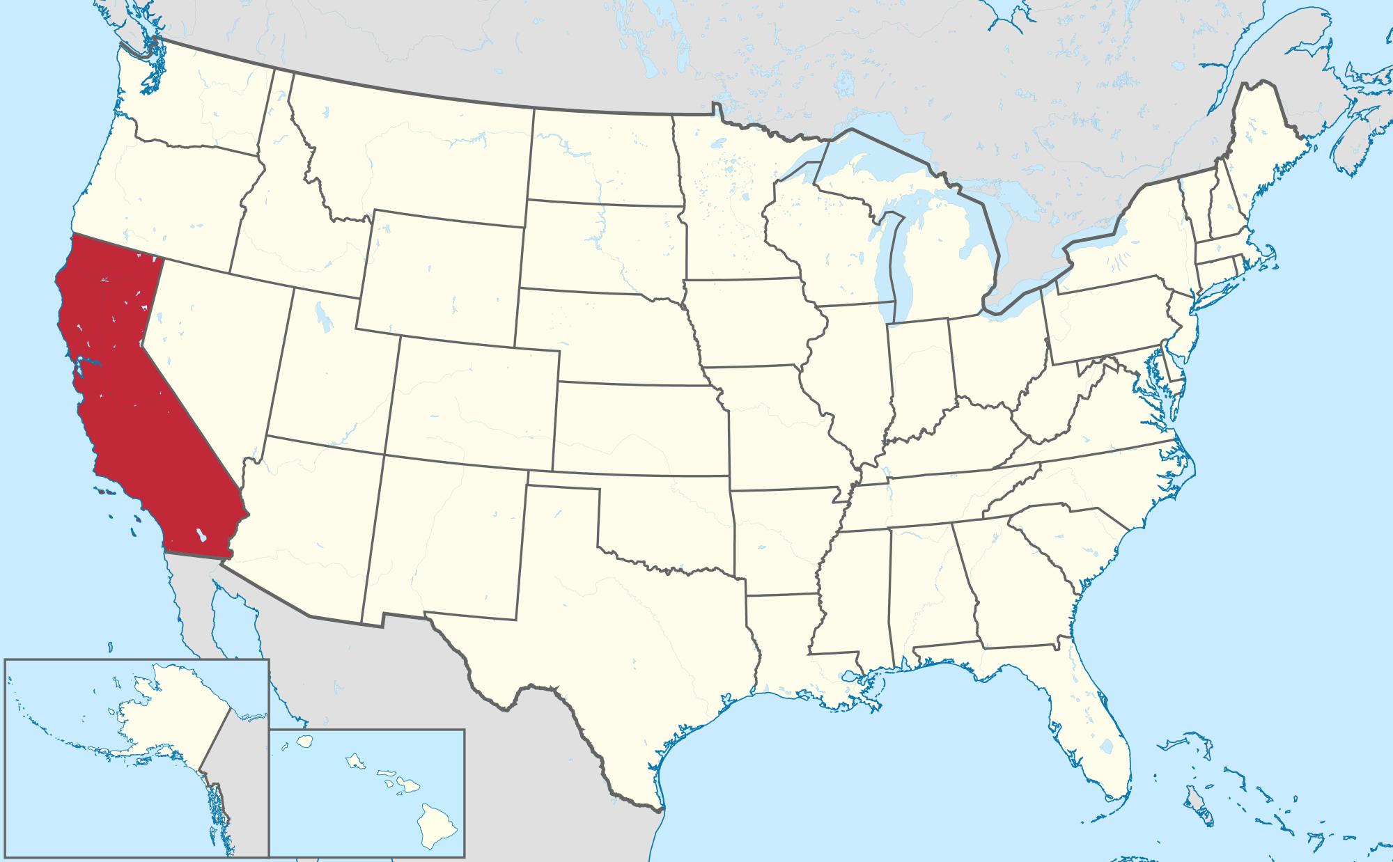 California - Wikipedia - Free State Map California