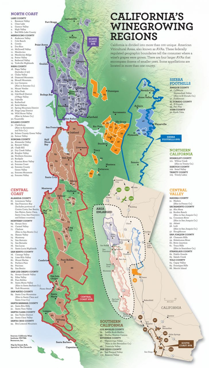 Central California Wine Country Map