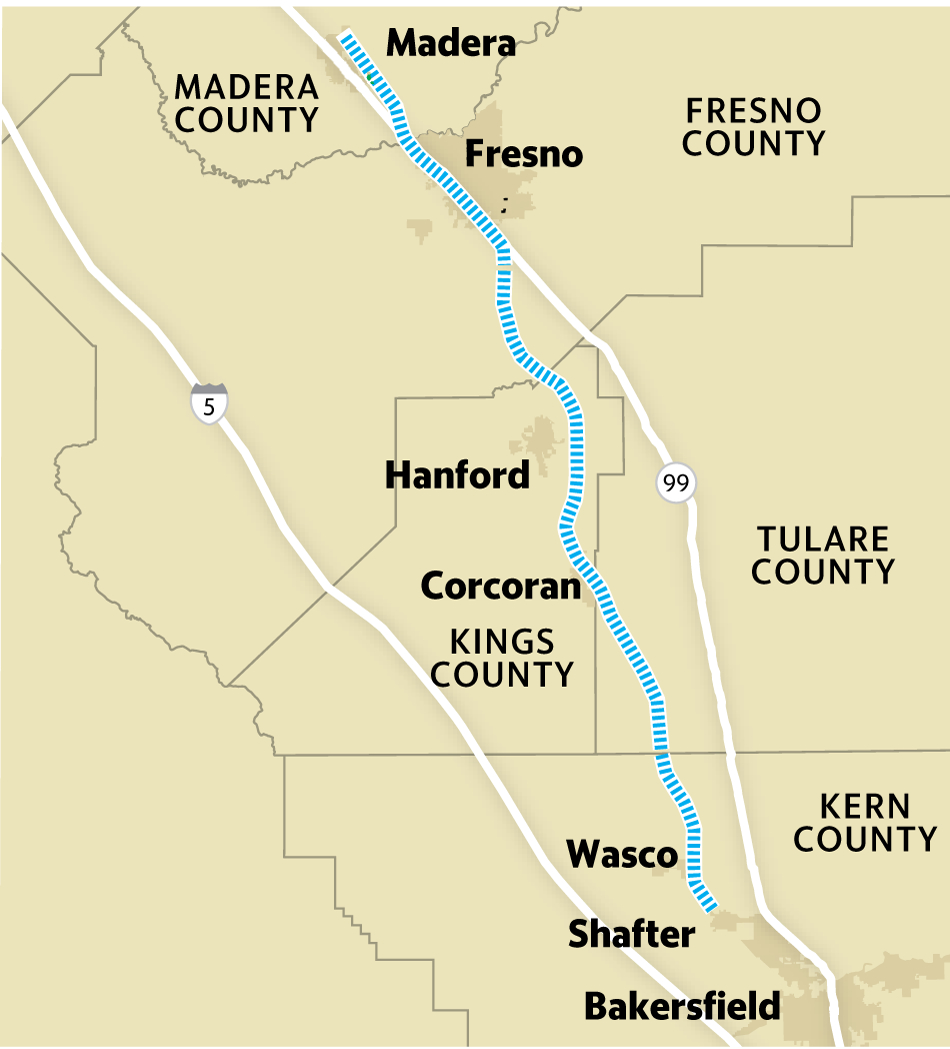 California's Bullet Train Struggles With Funding, Construction - High Speed Rail California Map