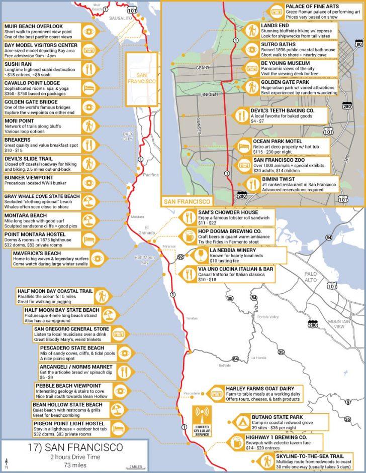 Camping Central California Coast Map