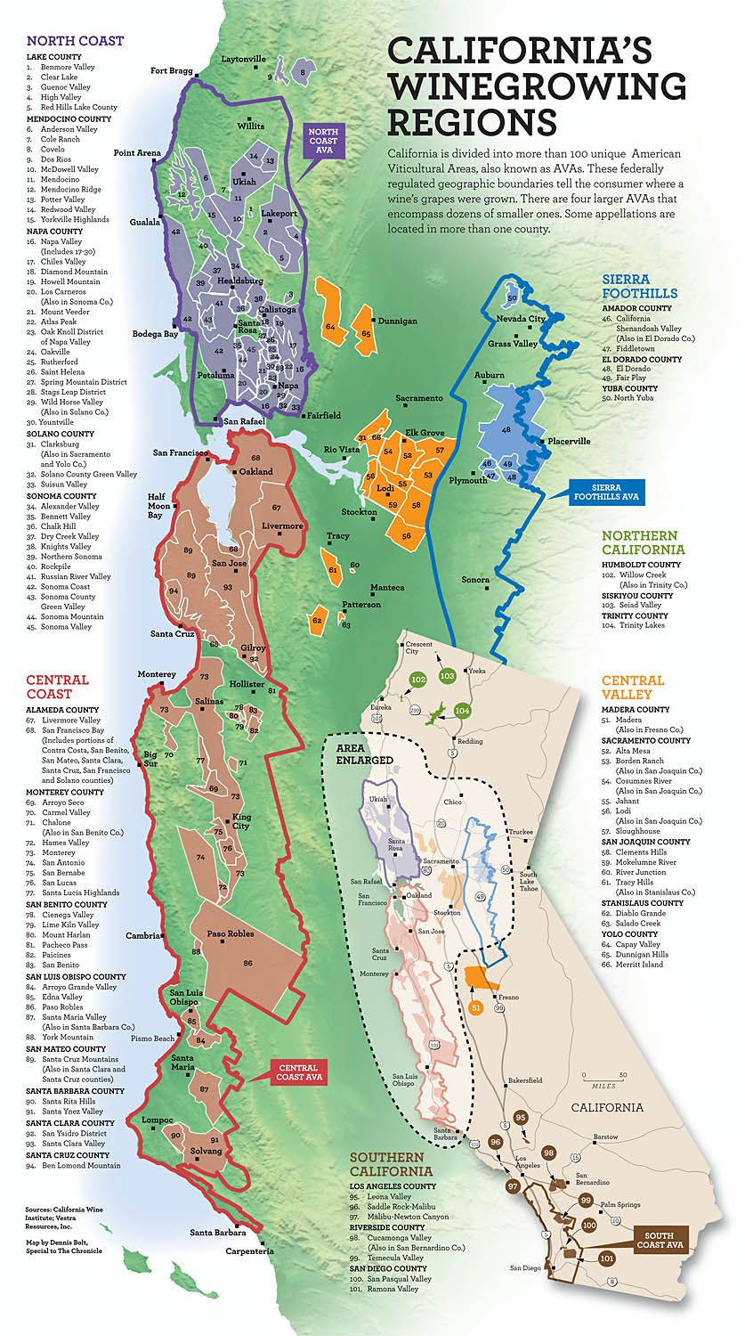 California's Wine Growing Regions | Cartographie | Pinterest | Wine - Map Of California Wine Appellations