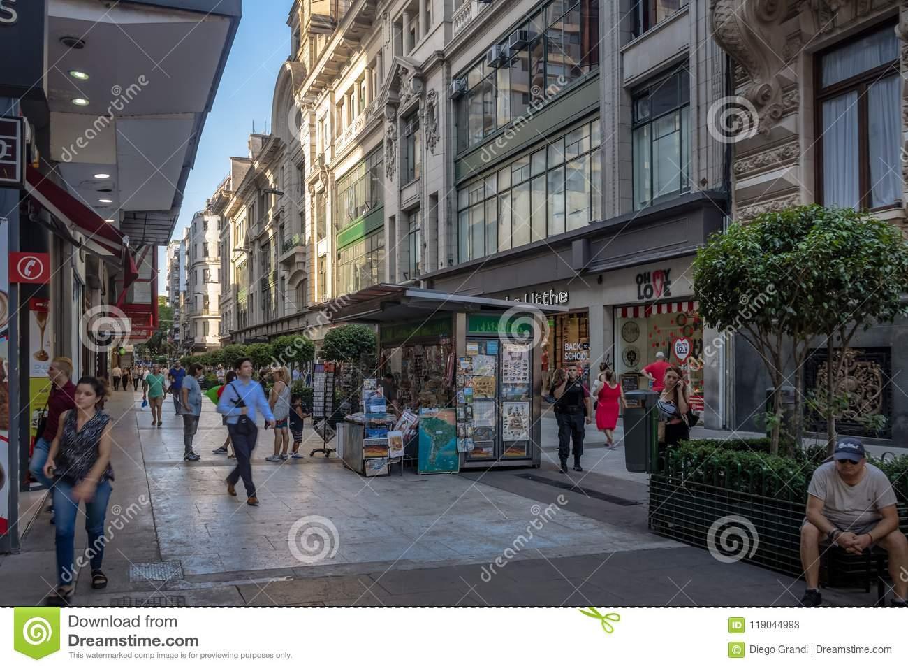 Calle Florida Florida Street - Buenos Aires, Argentina Editorial - Florida Street Buenos Aires Map