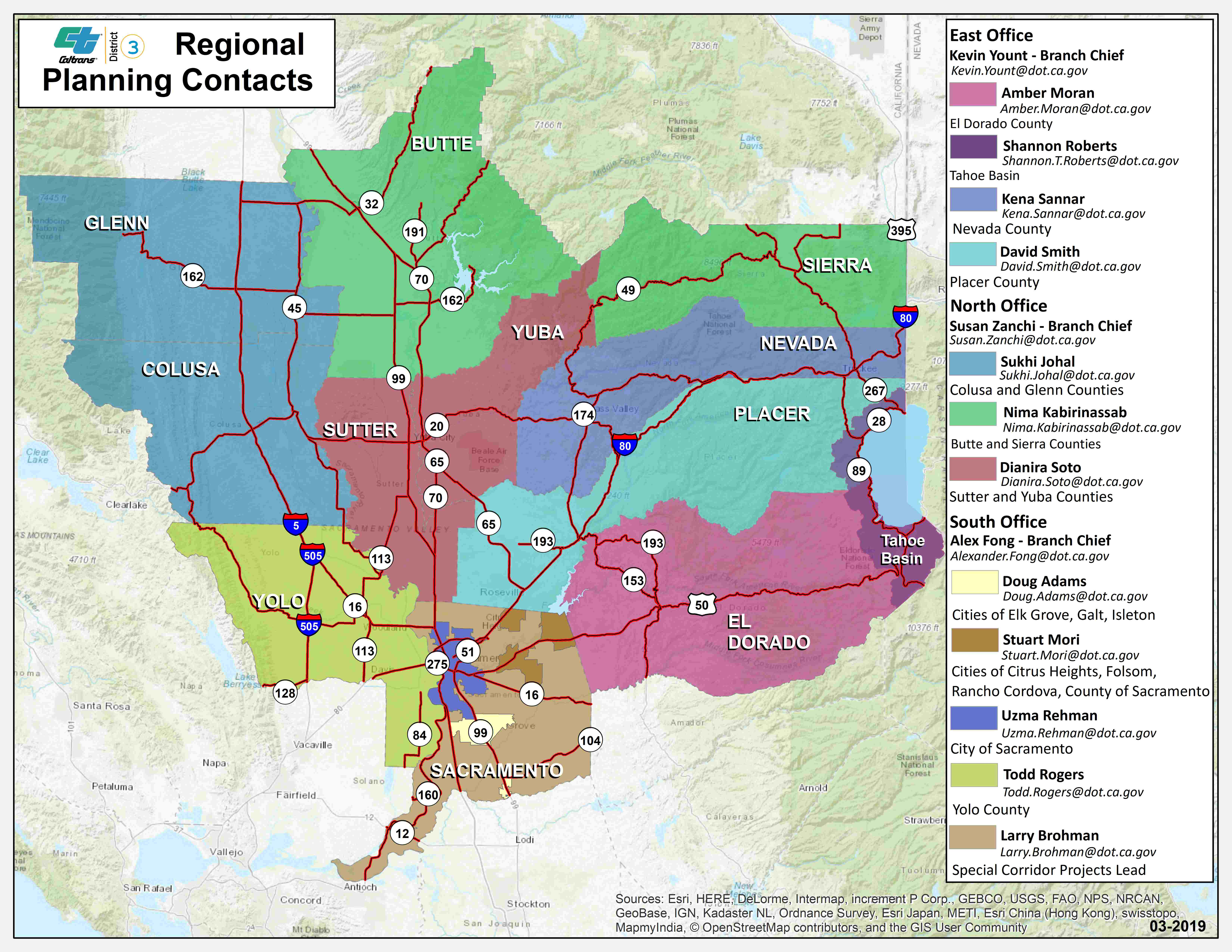Caltrans District 3 - Division Of Planning, Local Assistance, And - California Chain Control Map