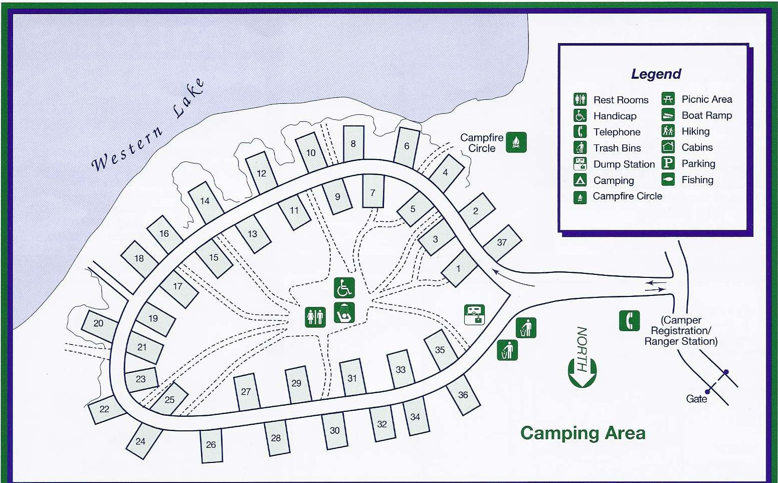 Campground Map - Grayton Beach State Park - Seaside - Florida - Grayton Beach Florida Map