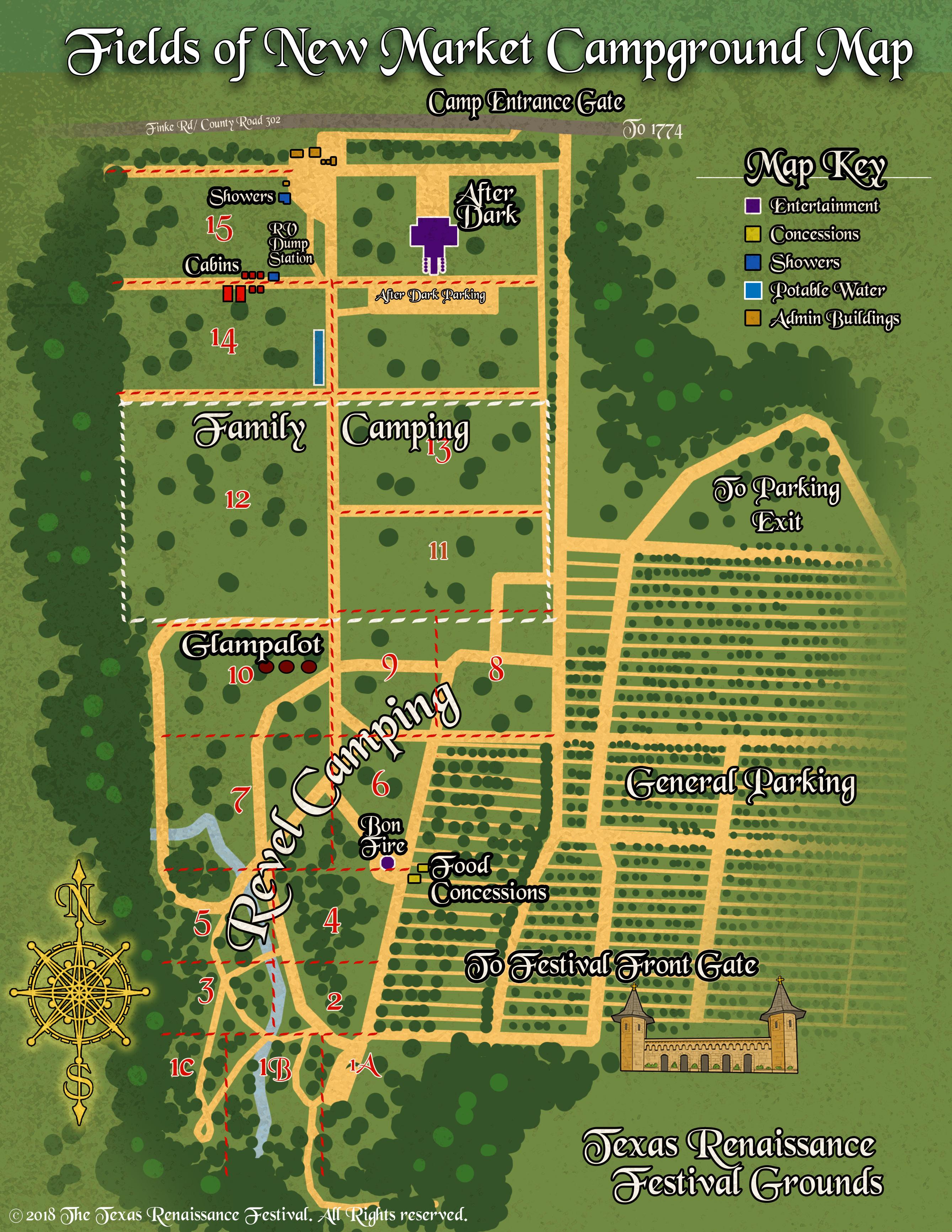 Camping – Texas Renaissance Festival - Texas Campgrounds Map
