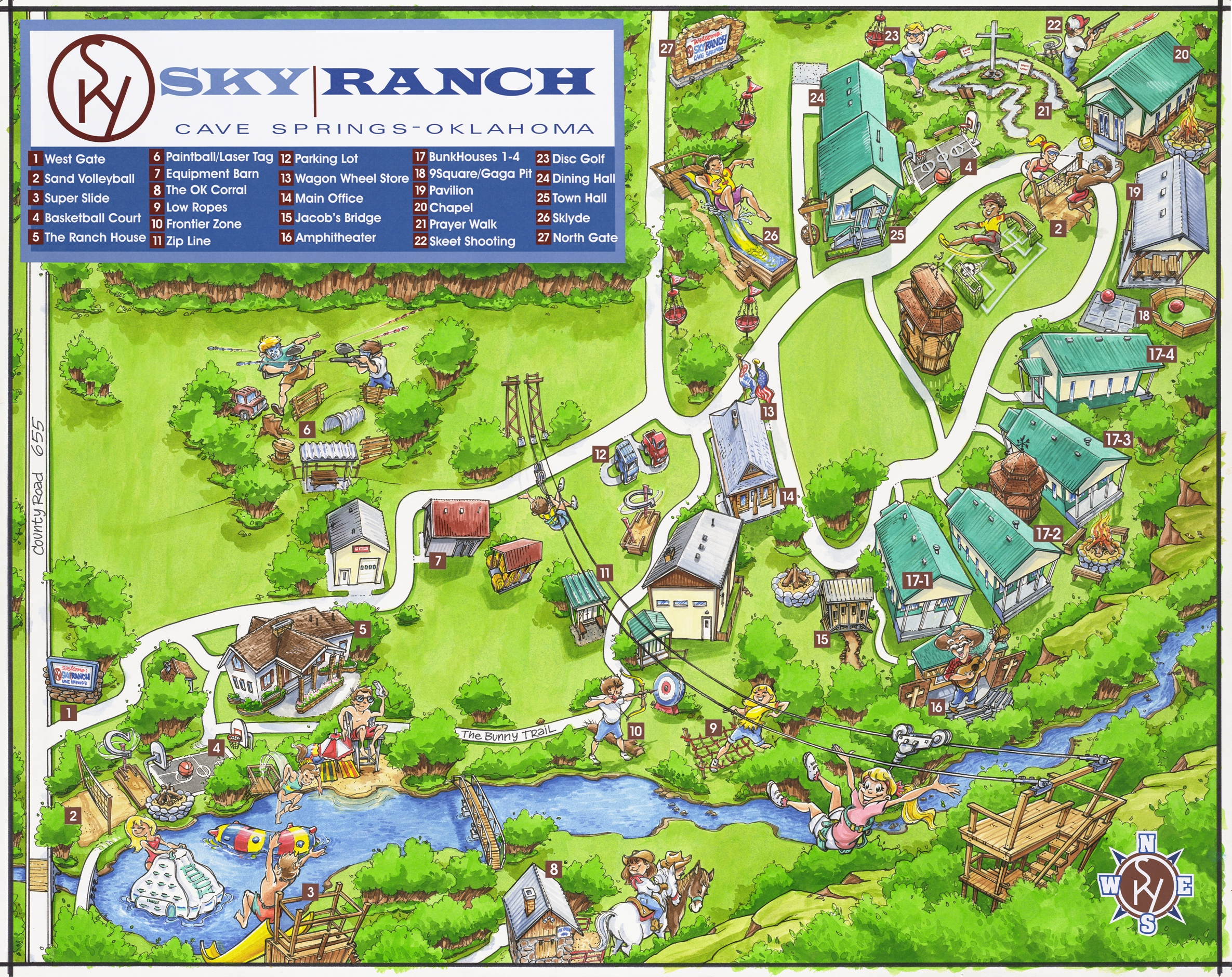 Campus For Retreat 2013 - Sky Ranch Texas Map