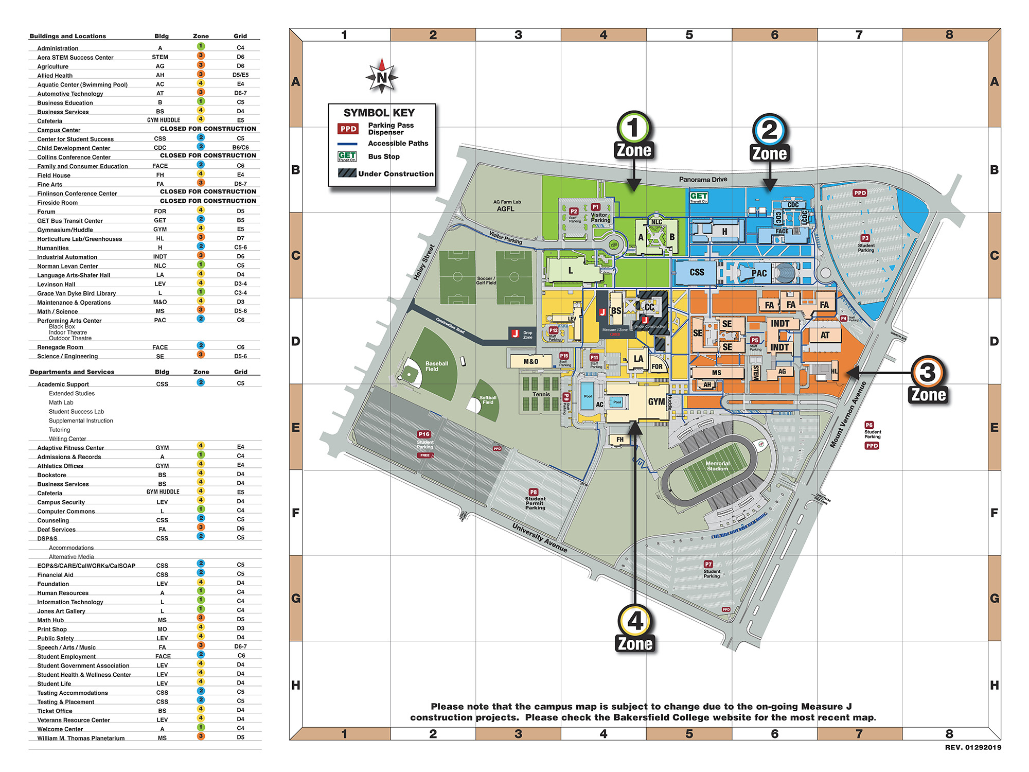 Campus Map | Bakersfield College - California Community Colleges Map