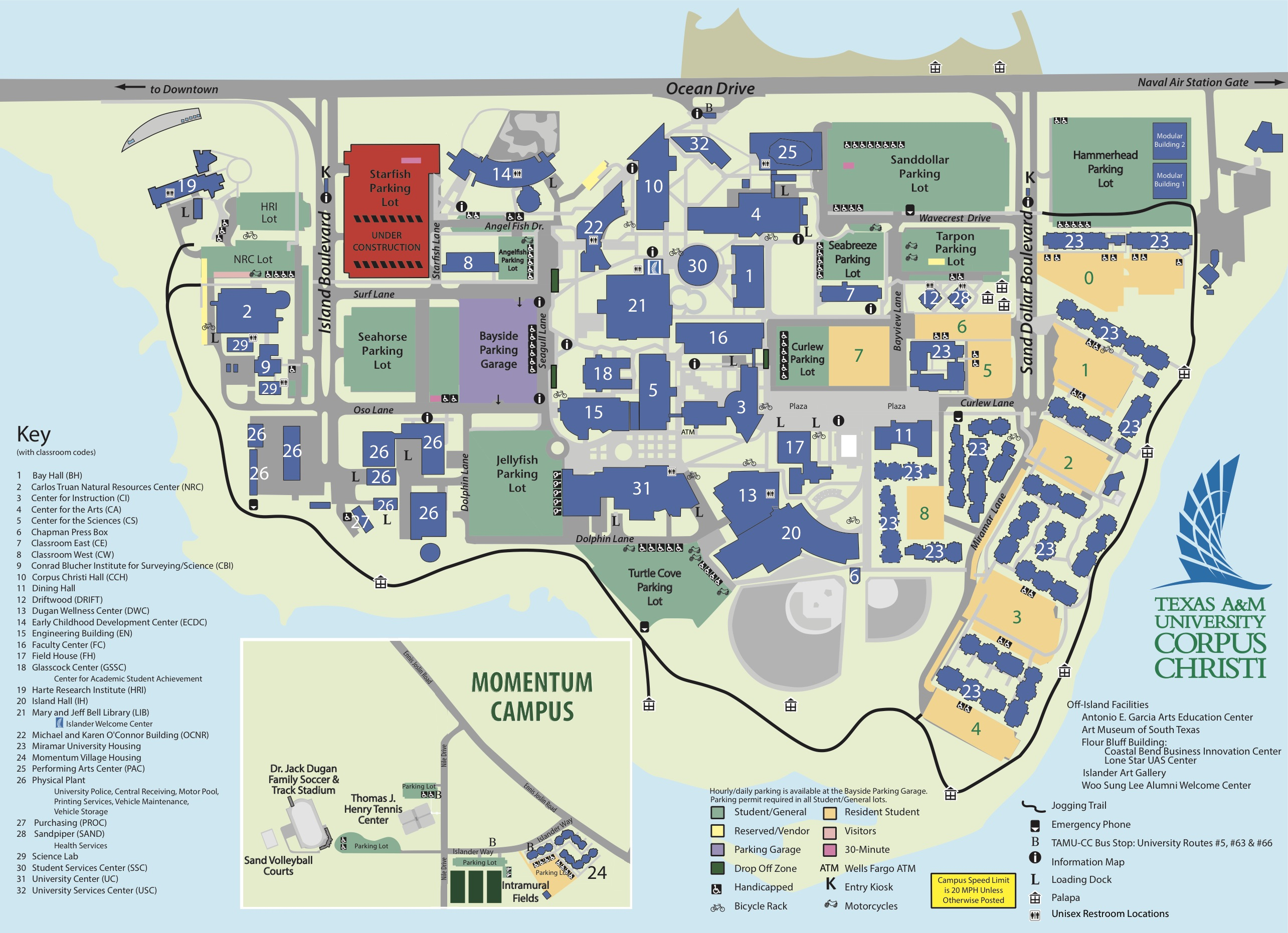Campus Map Texas A&m University-Corpus Christi - Texas Tech Housing Map