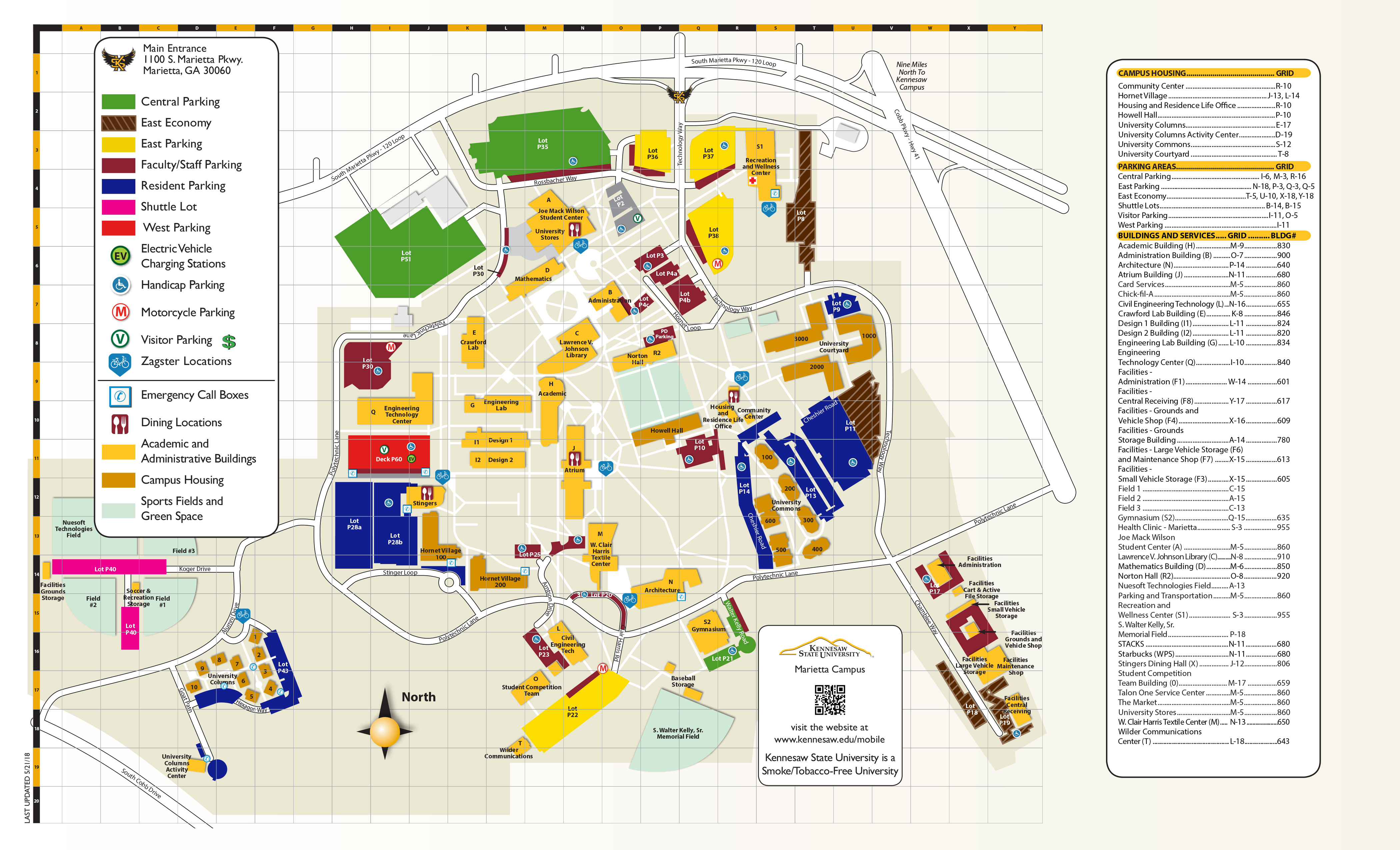 Campus Maps   Kennesaw State University - Texas State University Housing Map