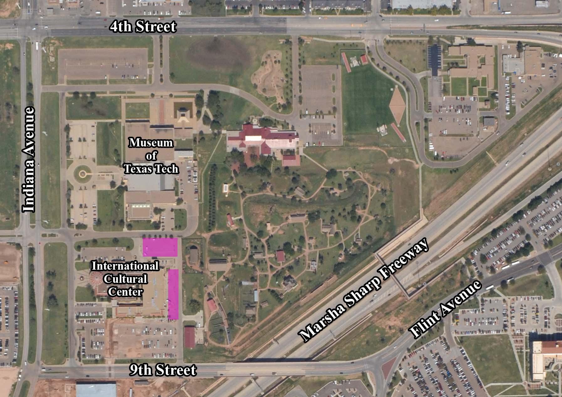 Campus Maps | Transportation & Parking Services | Ttu - Texas Tech Campus Map