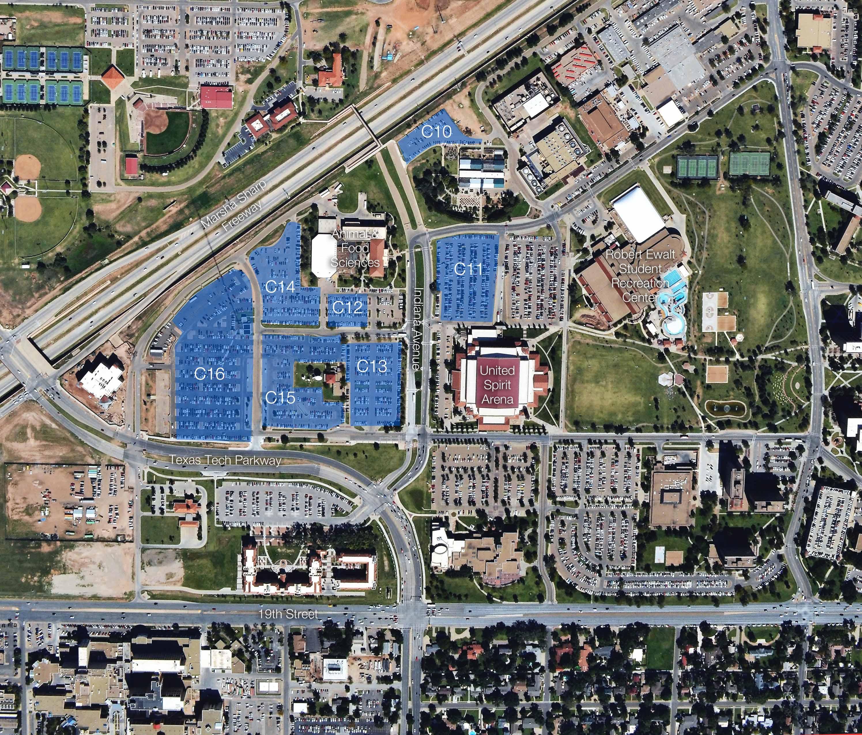 Campus Maps   Transportation & Parking Services   Ttu - Texas Tech Dorm Map