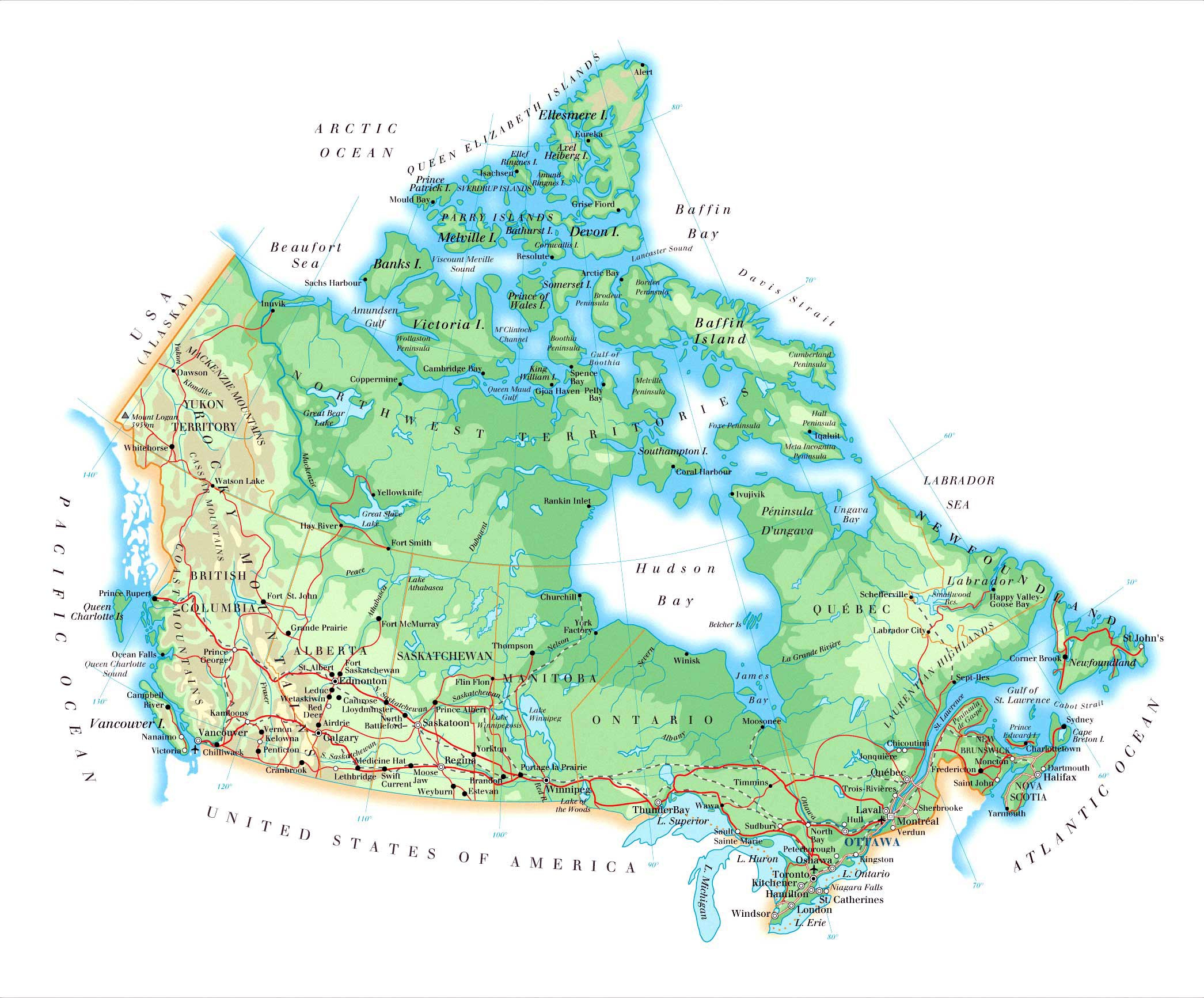 Canada Maps | Printable Maps Of Canada For Download - Large Printable Map Of Canada