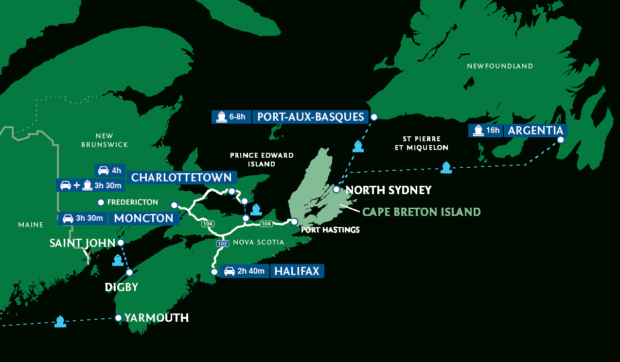 Cape Breton Island, Nova Scotia – Official Travel Guide - Printable Map Of Cape Breton Island