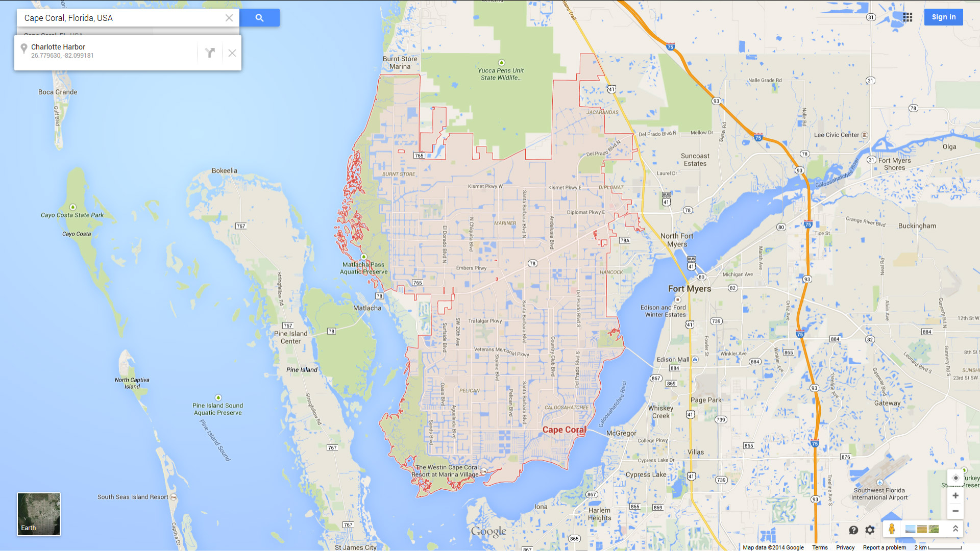Cape Coral, Florida Map - Street Map Of Cape Coral Florida
