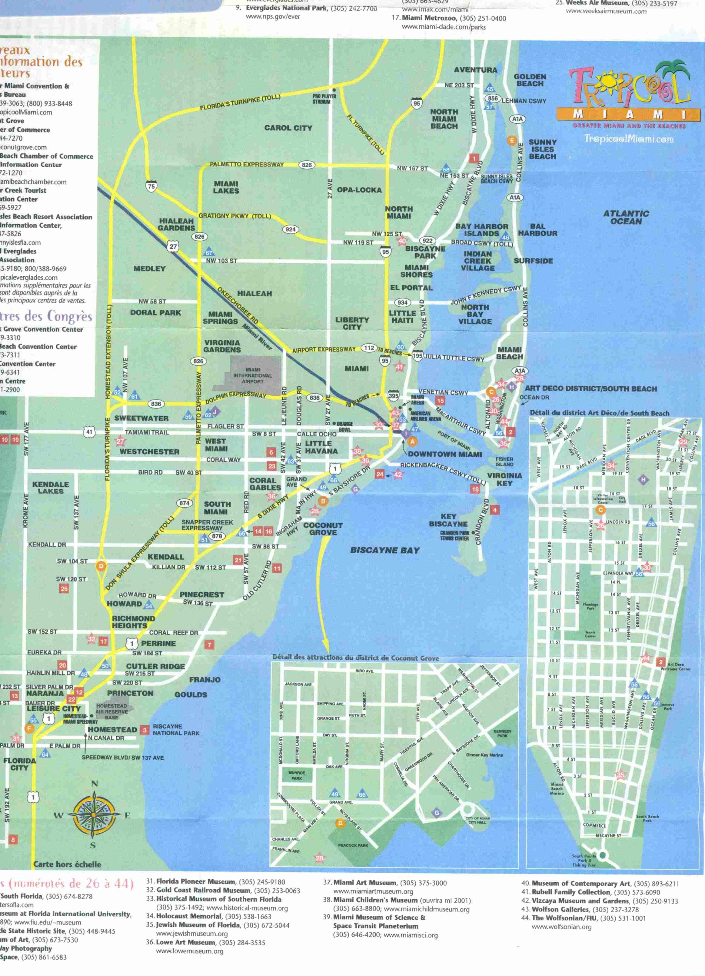 Carte Miami Beach | Miami | Miami, Miami Beach Et Florida - Sunny Isles Beach Florida Map