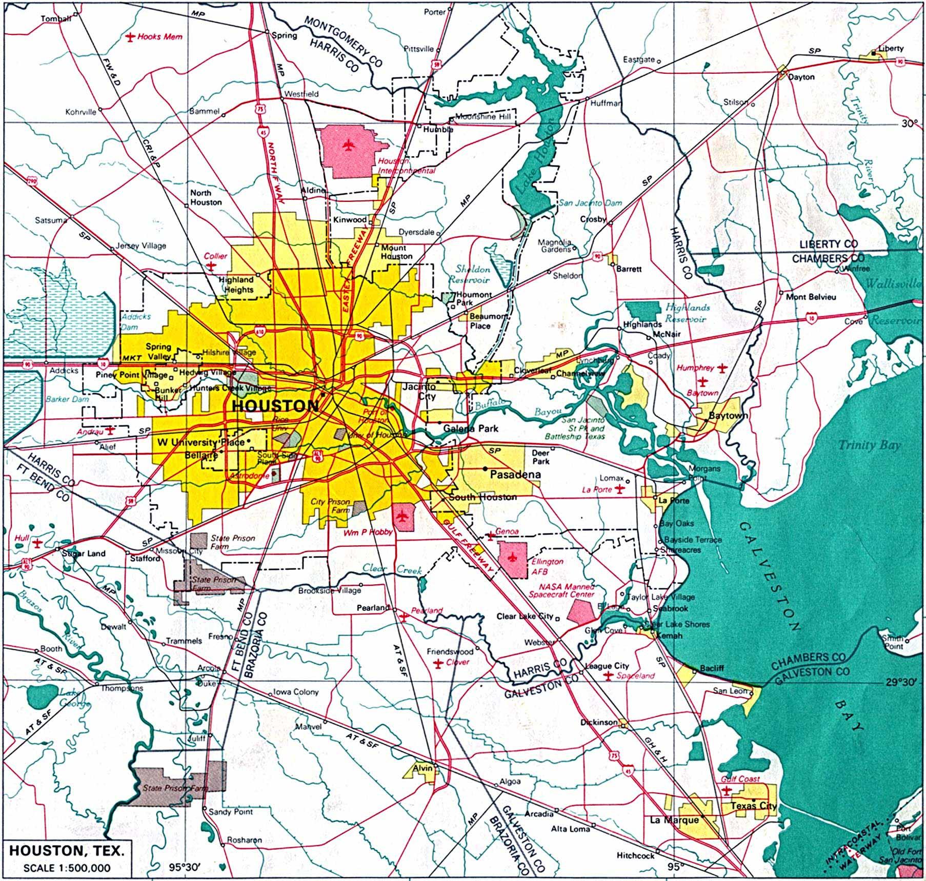 Cartes De Houston | Cartes Typographiques Détaillées De Houston - Houston Texas Google Maps