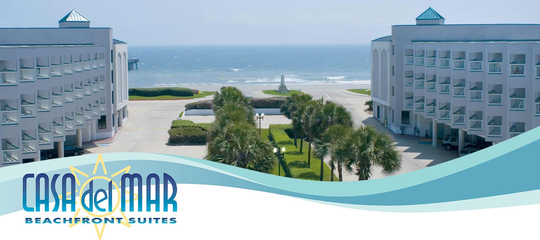 Casa Del Mar Beachfront Suites | Galveston Tx Condo Hotel - Map Of Hotels In Galveston Texas