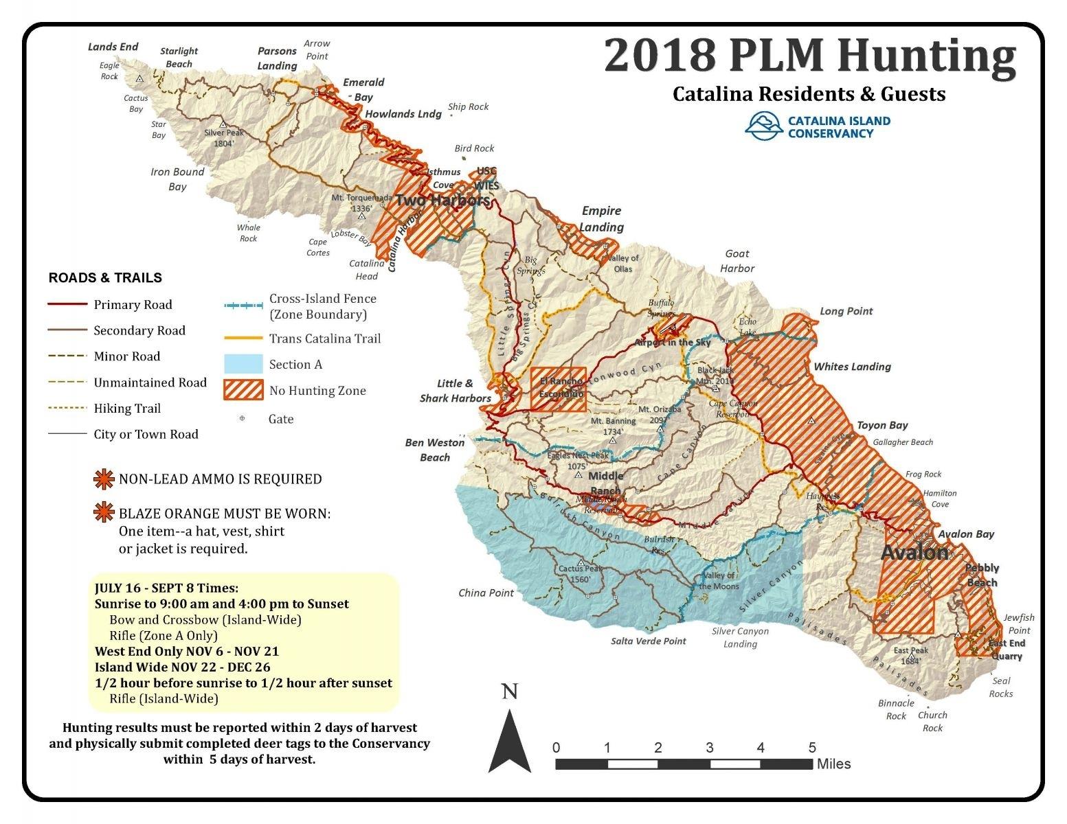Catalina Island Conservancy Within California Deer Zone Map 2017 - California Deer Zone Map 2018