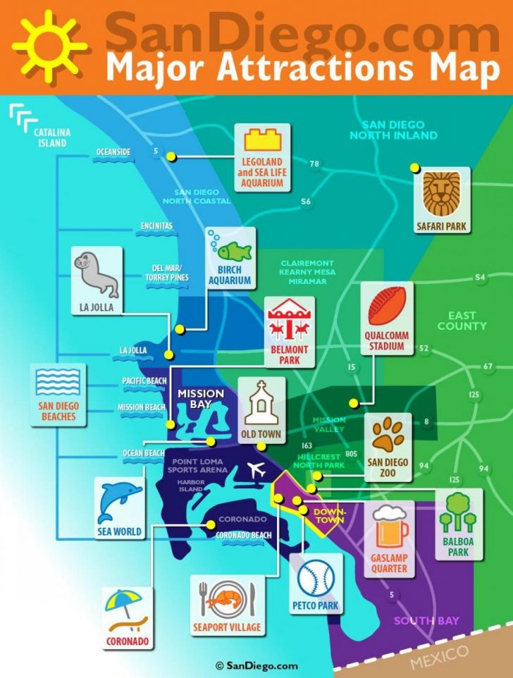San Diego Attractions Map Printable