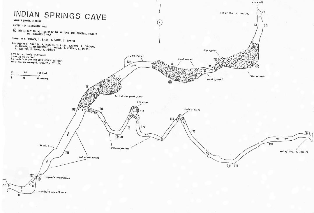 Caveatlas » Cave Diving » United States » Indian Springs - Florida Springs Diving Map