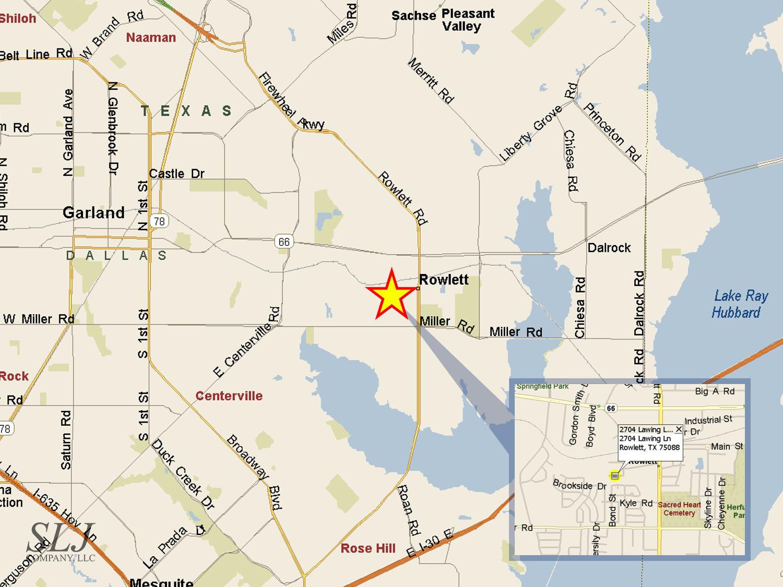 Cbre, Inc. - 2704 Lawing Ln, Distribution, Rowlett, Tx - Rowlett Texas Map