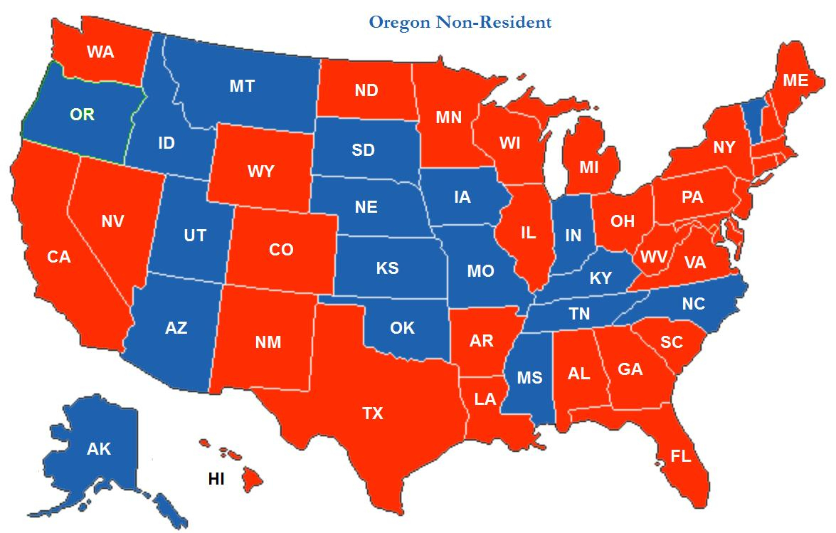 Ccw Reciprocity Coverage Map For The Idaho Enhanced Permit - Florida Concealed Carry Reciprocity Map