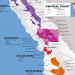 Central Coast Wine: The Varieties And Regions | Wine Folly   California Wine Tours Map