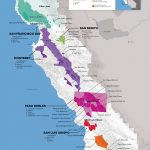 Central Coast Wine: The Varieties And Regions | Wine Maps   Camping Central California Coast Map