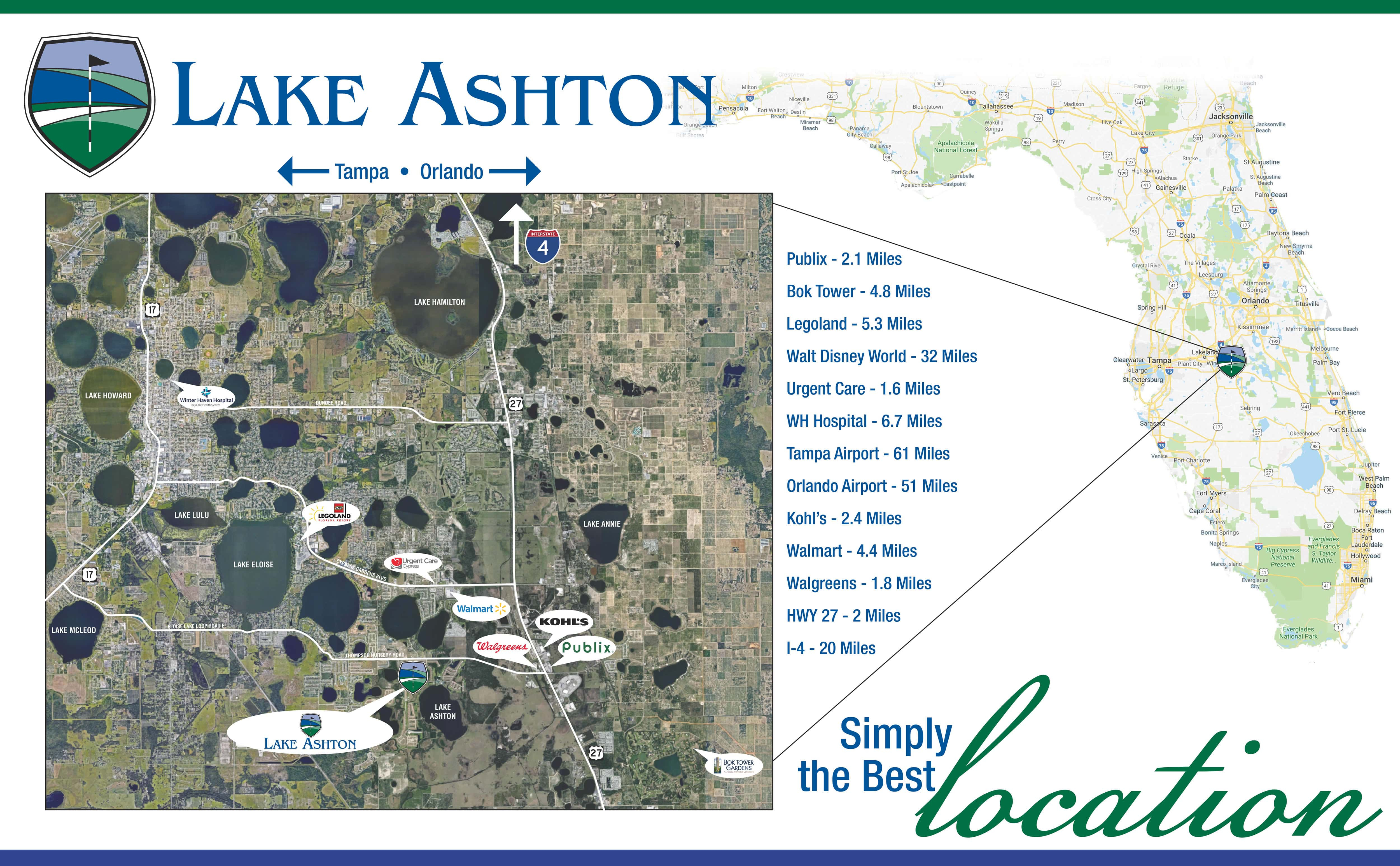Central Florida Retirement Community - Fun & Active 55+ Retirement - Lake Wales Florida Map