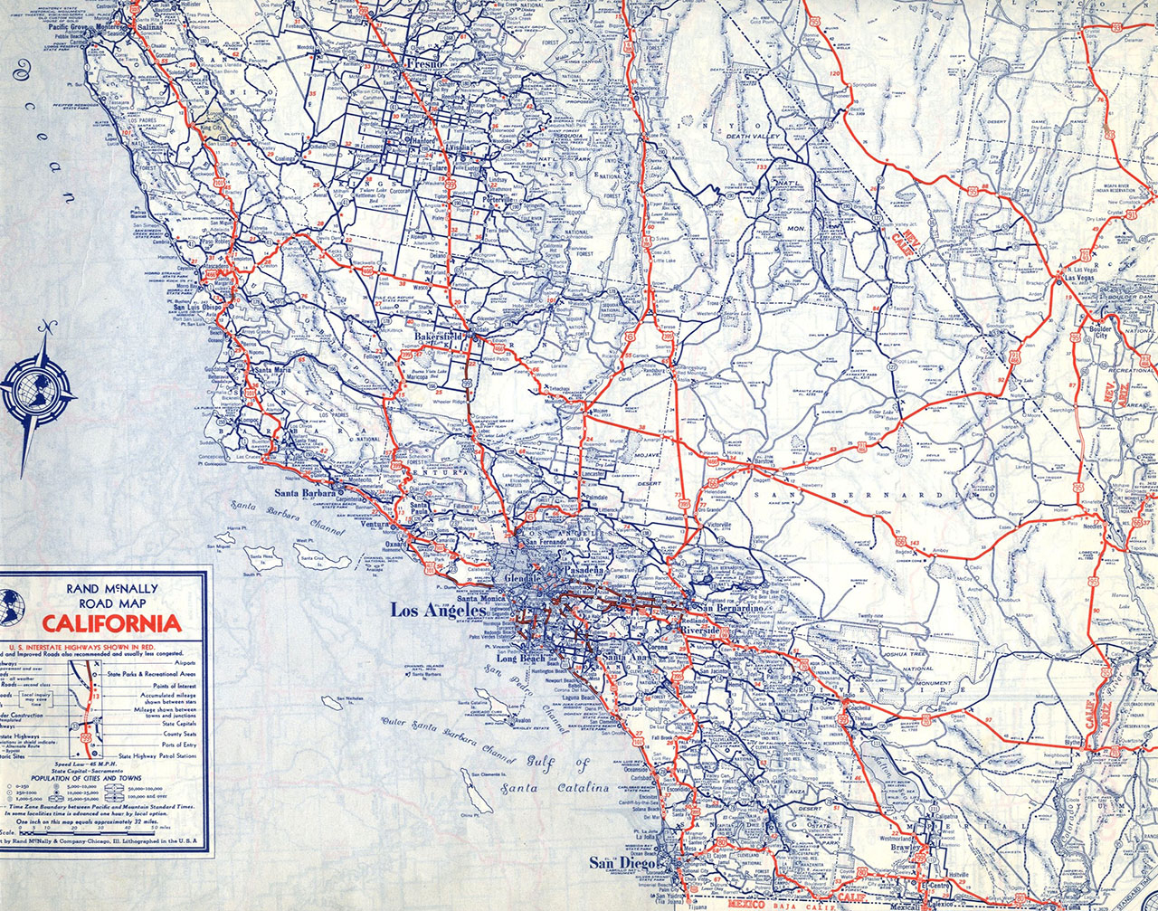 Central Library Big Of Map Detailed Map Of Southern California - Central California Road Map
