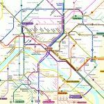 Central Paris Metro Map   About France   Map Of Paris Metro Printable