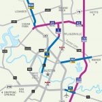 Central Texas Toll Roads Map   I 35 Central Texas Traffic Map