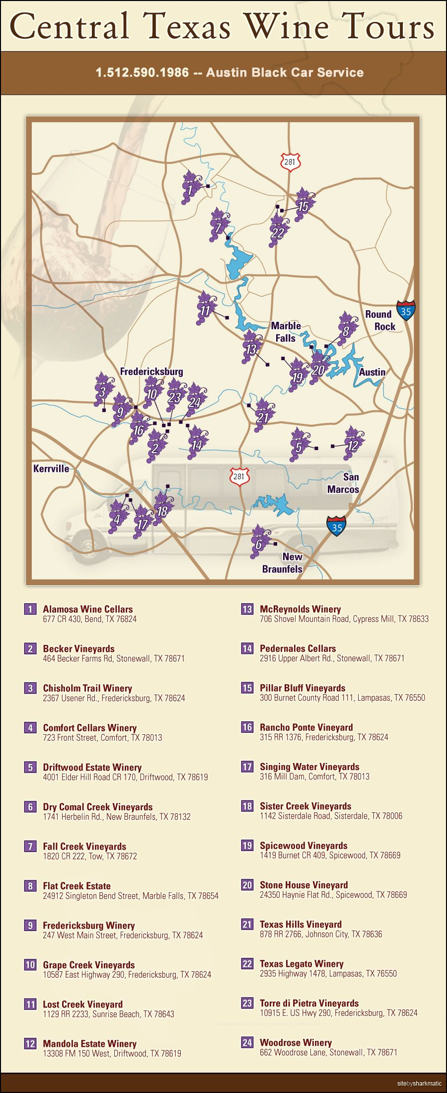 Central Texas Wine Trail … | Wine | Centr… - Fredericksburg Texas Winery Map