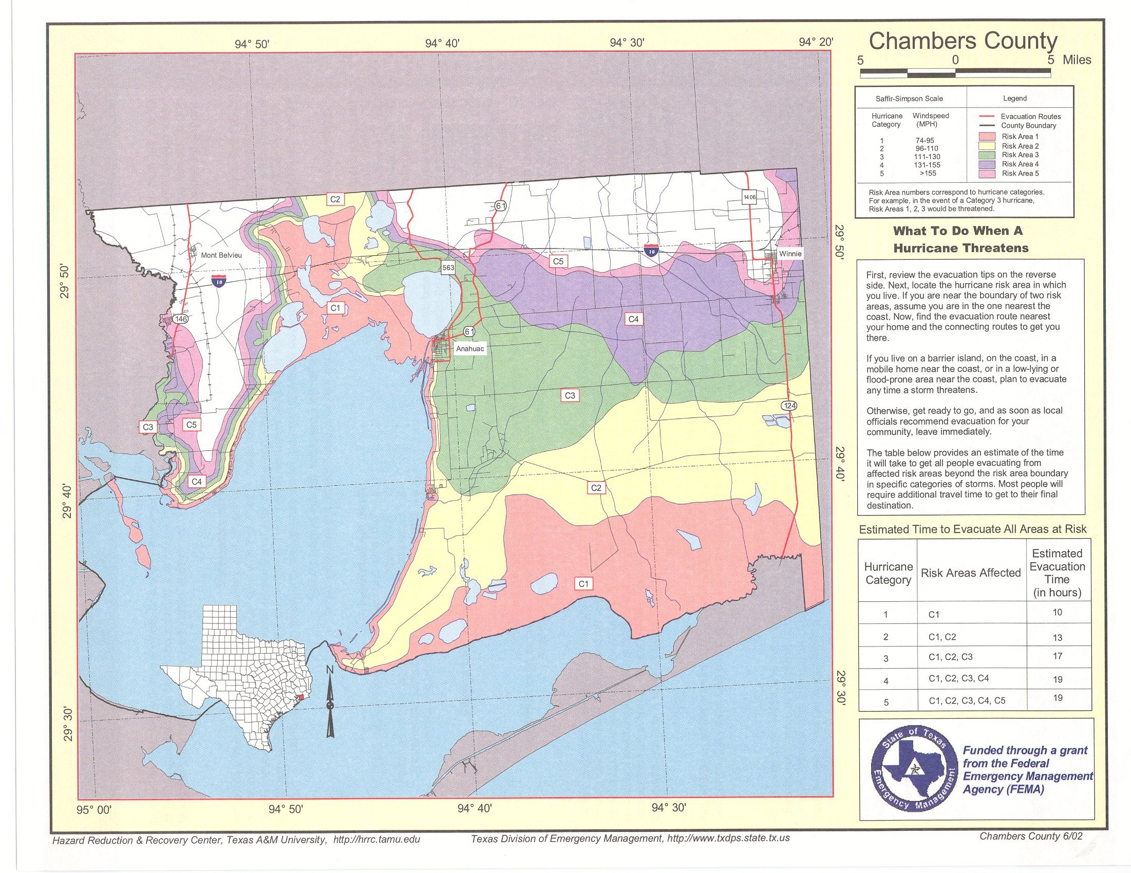 Chambers County Risk Area Map - Chambers County Texas Flood Zone Map