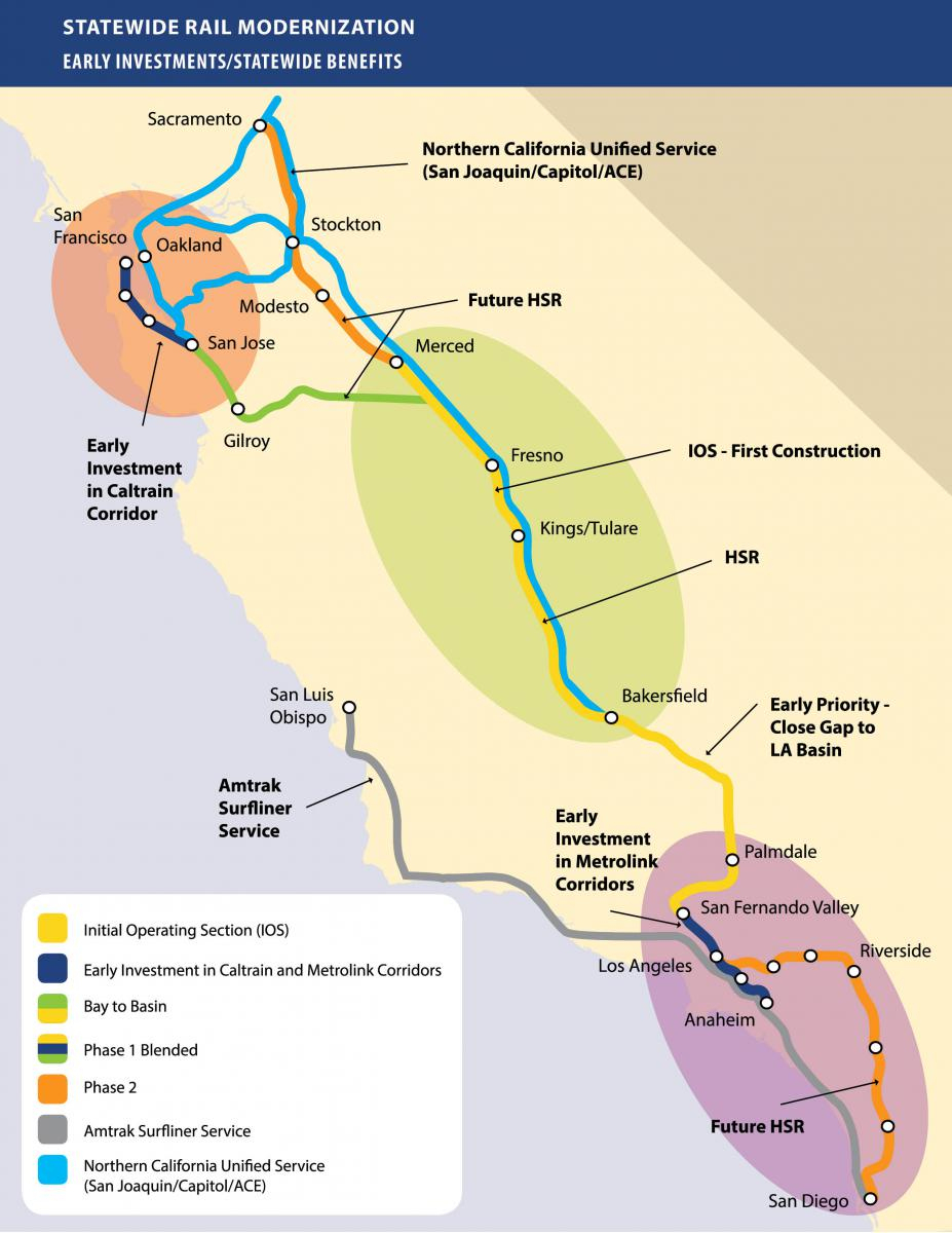 Chapter's Stance On California's High-Speed Rail Project   Sierra - California High Speed Rail Map