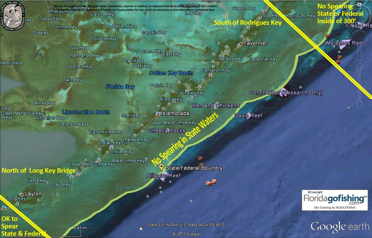 Charts And Maps Florida Keys - Florida Go Fishing - Google Maps Key Largo Florida