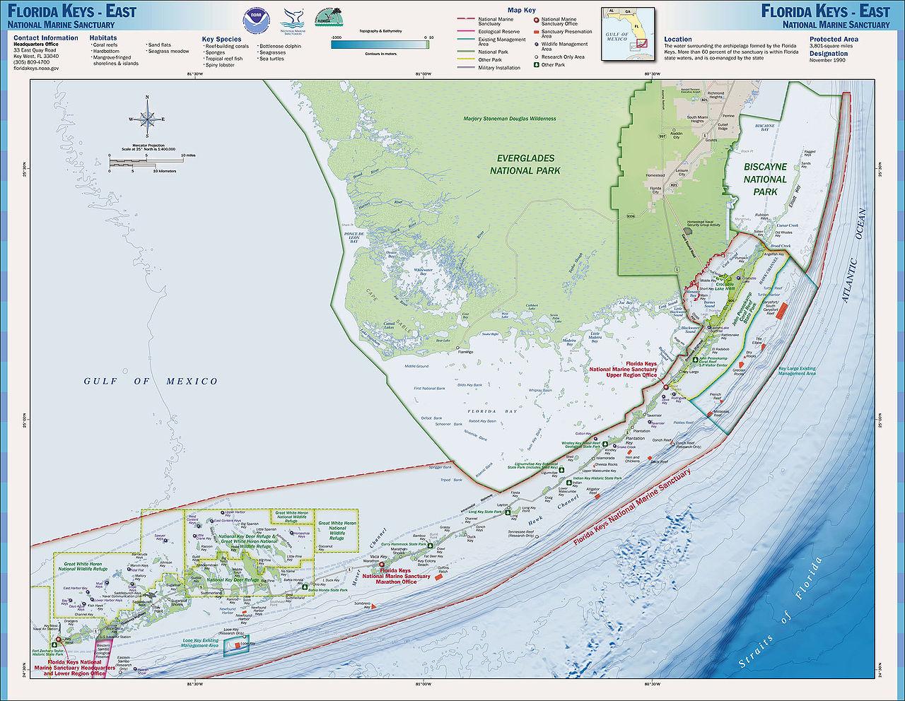 Charts And Maps Florida Keys - Florida Go Fishing - Map Of Florida Keys And Miami