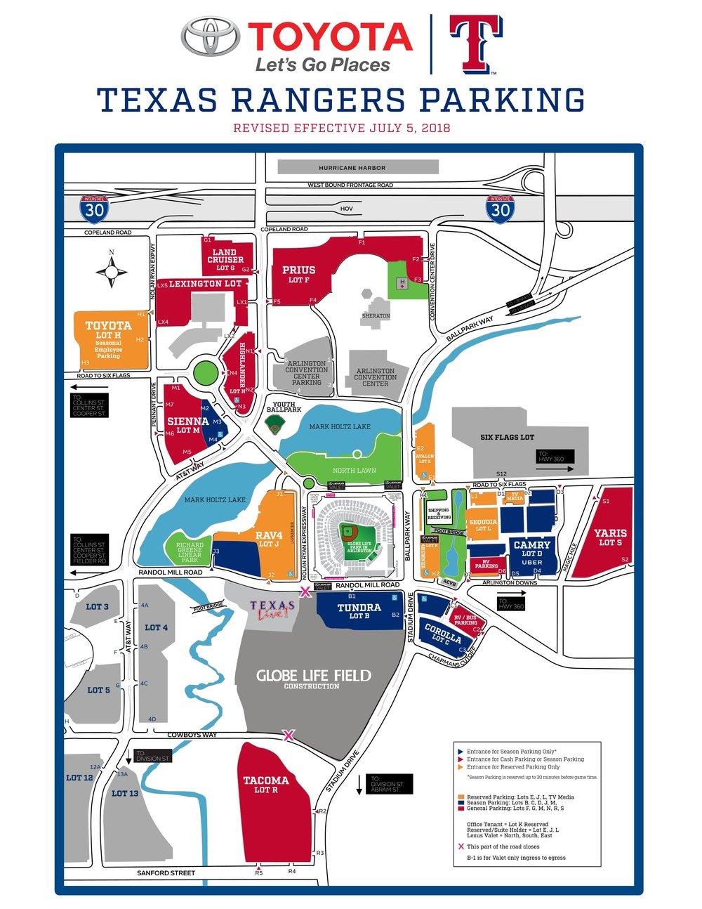Cheree Amour My Jewelry Store - Custom Jewelry - Texas Rangers Stadium Parking Map