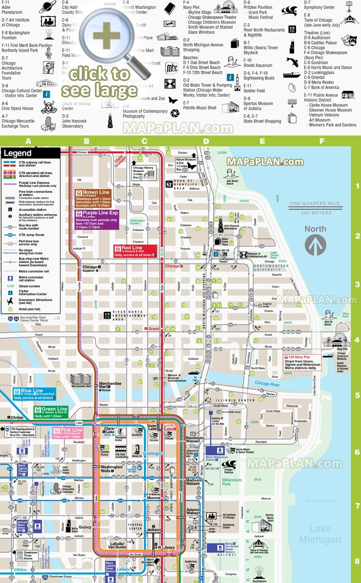 image regarding Printable Maps of Chicago known as Chicago Maps - Best Vacationer Points of interest - Totally free, Printable