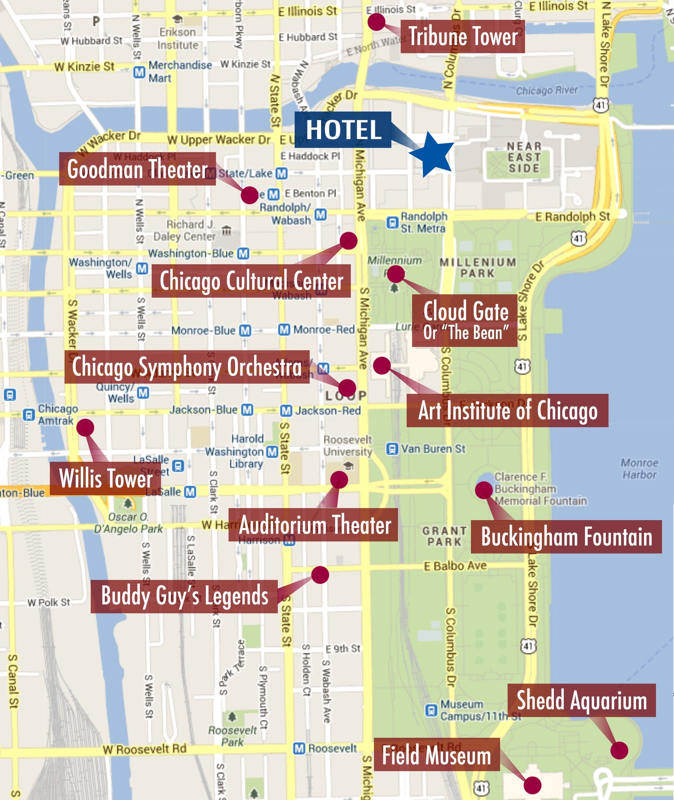 Chicago Tourist Attractions Map Maps Update 14882105 Tourist Map Of - Chicago Tourist Map Printable